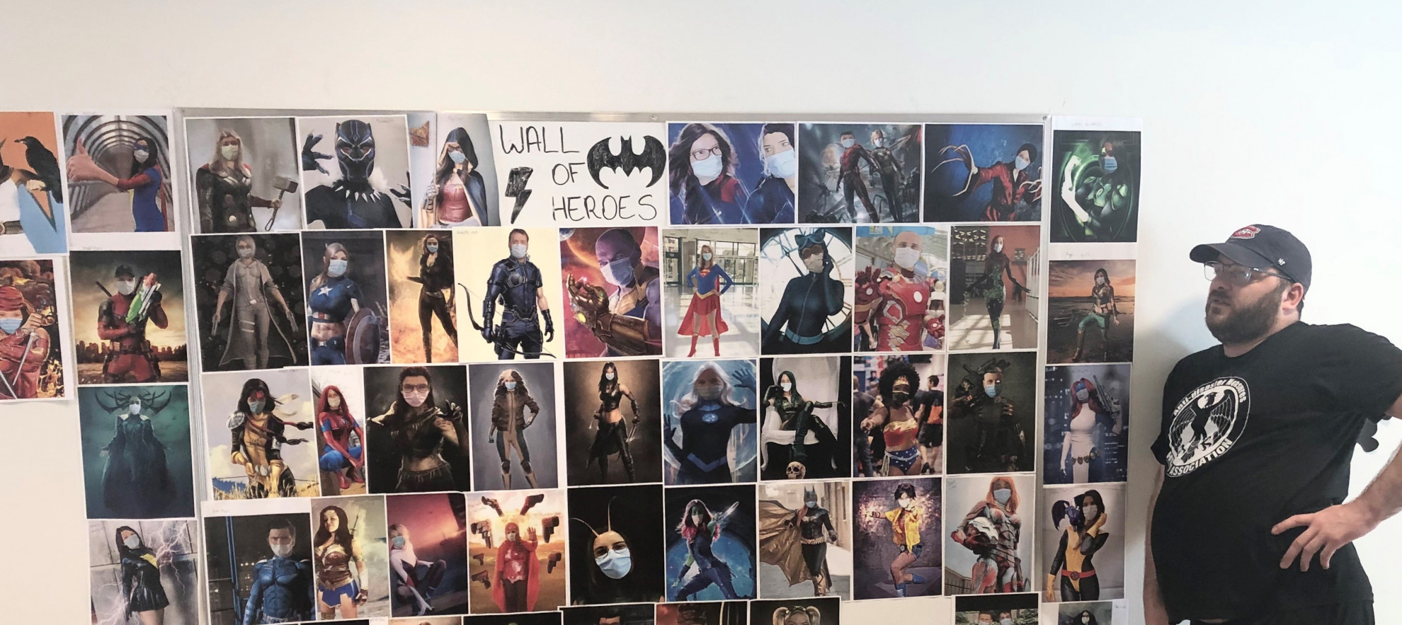 Wall of Heroes Likens CONNECT Employees to Superheroes